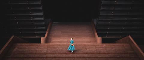 Woman on a Stage