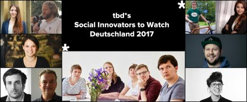 tbd* Social Innovators To Watch Deutschland 2017