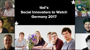 tbd* Social Innovators To Watch Germany 2017