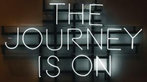 Neon Sign The Journey Is On