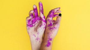 Hands with Glitter
