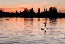 Stand Up Paddler in Berlin